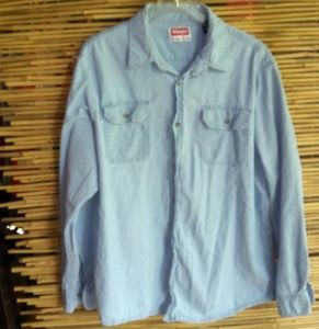 Wrangler Light Jean Shirt Sz L